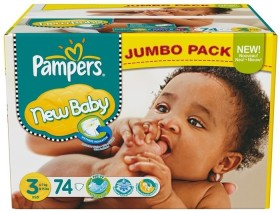 Pampers Premium Protection New Baby Gr.3 Einwegwindel, 4-7kg, 74 Stück