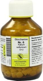 Nestmann Biochemie 6 Kalium sulfuricum D12 Tabletten, 400 Stück