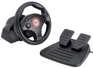 Trust GM-3200 Compact Vibration Feedback Steering Wheel, USB (PC/PS3/PS2) (16064)