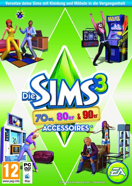 Die Sims 3 - 70s, 80s & 90s Accessoires (add-on) (German) (PC/MAC)
