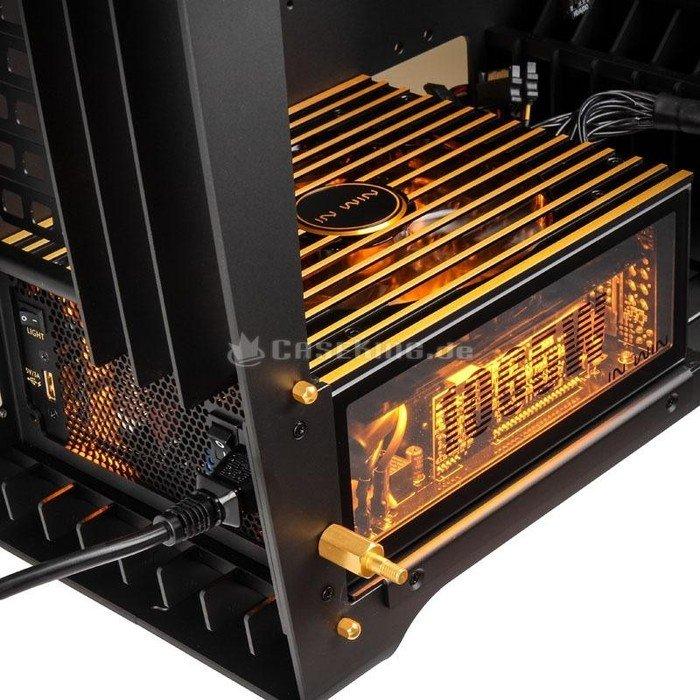 In Win H-Frame 2.0 black/amber, glass window, 1065W ATX, E-ATX ...