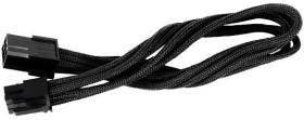 SilverStone PP07-IDE6B, 6-Pin PCIe Verlängerung 250mm, sleeved schwarz (SST-PP07-IDE6B/40088)