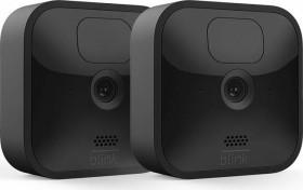 Blink Outdoor Kamera schwarz, 3. Generation/2020, 2er-Pack, Set inkl. Sync-Modul 2 (53-024849)