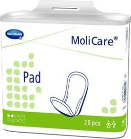Hartmann MoliCare Pad 2 drops incontinence pads, 28 pieces