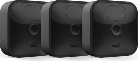 Blink Outdoor Kamera schwarz, 3. Generation/2020, 3er-Pack, Set inkl. Sync-Modul 2 (53-024850)