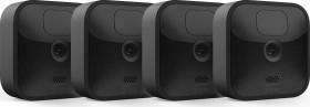 Blink Outdoor Kamera schwarz, 3. Generation/2020, 4er-Pack, Set inkl. Sync-Modul 2 (53-024851)