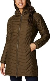 Columbia Powder Lite Mid Hooded Jacke olive green (Damen) (1748311-319)