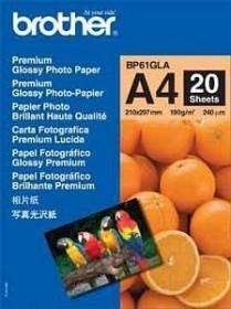 Brother Premium Fotopapier glänzend A4, 190g/m², 20 Blatt (BP61GLA)