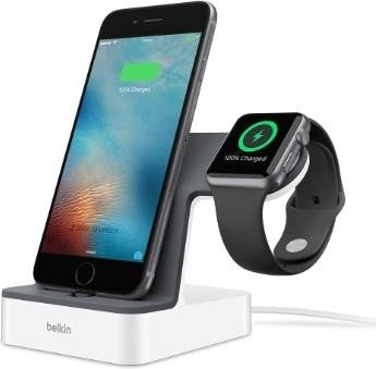 Belkin PowerHouse charging station for Apple Watch and iPhone white (F8J200VFWHT)