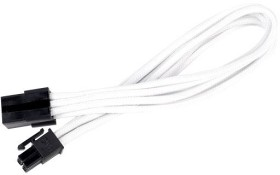 SilverStone PP07-IDE6W, 6-Pin PCIe extension 250mm, sleeved white (SST-PP07-IDE6W/40090)