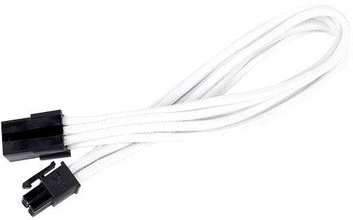 SilverStone 6-Pin PCIe Verlängerung 30cm, sleeved weiß (SST-PP07-IDE6W)