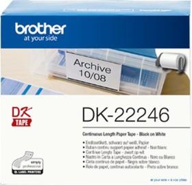Brother DK-22246 Endlosetikette, 103mm, weiß, 1 Rolle (DK22246)