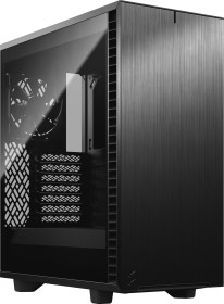 Fractal Design Define 7 Compact Dark Tempered Glass Black, schallgedämmt, Glasfenster (FD-C-DEF7C-02)