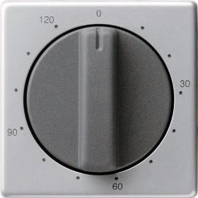 Gira Abdeckung mit Knebel für Zeitschalter 120 Minuten, aluminium (0642 203)