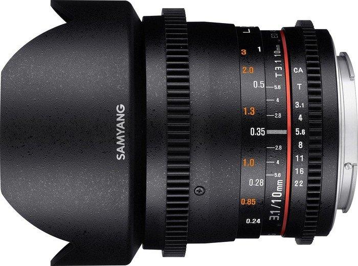 Samyang 10mm T3.1 ED AS NCS CS II VDSLR für Canon EF schwarz (1322501101)