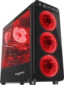 Genesis Irid 300 Red, Glasfenster, Lüfter LED rot (NPC-1131)