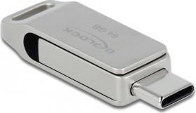 DeLOCK SuperSpeed USB Stick 64GB, USB-C 3.0/USB-A 3.0 (54075)