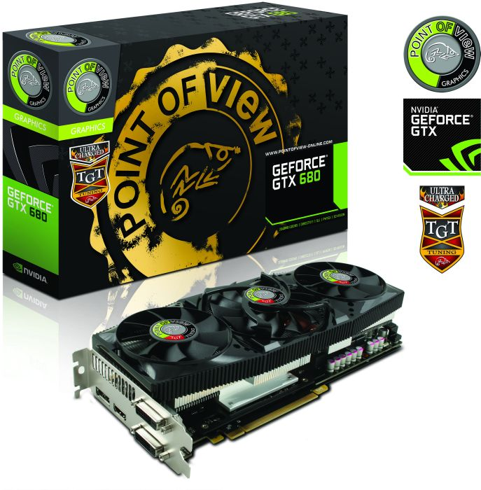 Point of View GeForce GTX 680 TGT Ultra Charged + TGT Backplate, 2GB GDDR5, 2x DVI, HDMI, DisplayPort (TGT-680-A1-2-UC)