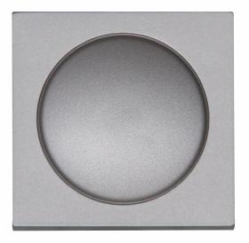 Kopp Athenis Dimmer-Abdeckung für Druck-Wechseldimmer, stahlfarben (490620186)