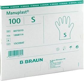 B.Braun Manuplast Einweghandschuhe S weiß, 100 Stück