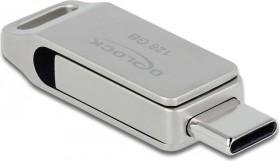 DeLOCK SuperSpeed USB Stick 128GB, USB-C 3.0/USB-A 3.0 (54076)