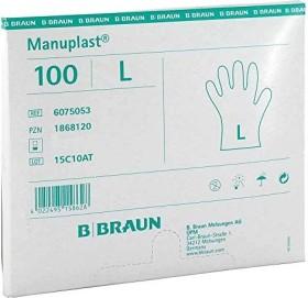 B.Braun Manuplast Einweghandschuhe L weiß, 100 Stück