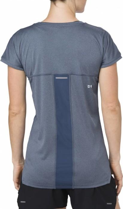 Asics Capsleeve Laufshirt kurzarm dark blue heather (Damen) (154541 1273) ab € 17,90