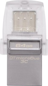 Kingston DataTraveler microDuo 3C 64GB, USB-C 3.0/USB-A 3.0 (DTDUO3C/64GB)