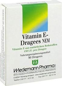 Wiedemann Vitamin E Dragees NEM, 50 Stück