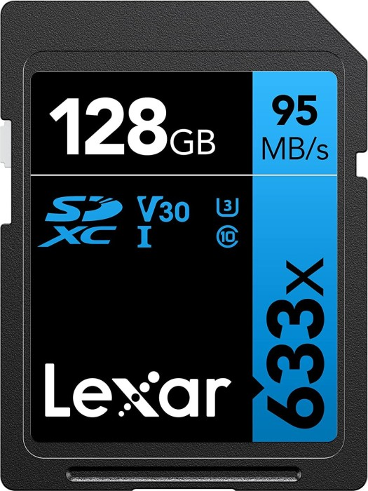 Lexar Professional 633x R95/W20 SDXC 128GB, UHS-I U1, Class 10 (LSD128GCB1EU633)