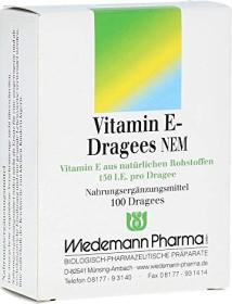 Wiedemann Vitamin E Dragees NEM, 100 Stück