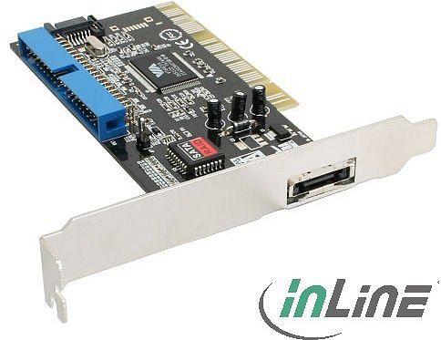 InLine 66697B, 1x eSATA/1x SATA/1x IDE, PCI