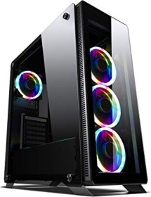 Sahara P35 RGB, black, glass window, fan LED RGB