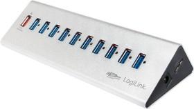 LogiLink Aluminium USB-Hub, 10x USB-A 3.0, USB 3.0 Micro-B [Buchse] (UA0229)
