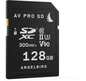 Angelbird AV PRO SD V90 R300/W260 SDXC 128GB, UHS-II U3, Class 10, 2er-Pack (AVP128SDX2)