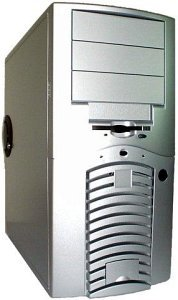Chieftec Dragon AH-01SL-U Mini-Tower aluminum with door and USB/FireWire front (various Power Supplies)