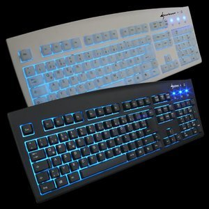 Sharkoon Luminous Keyboard III white, PS/2, DE