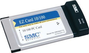 SMC EZ Card 10/100 8041TX, 1x 100Base-TX, PC Card --