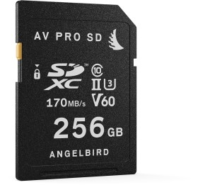 Angelbird AV PRO SD V60 R170/W105 SDXC 256GB, UHS-II U3, Class 10 (AVP256SDV60)