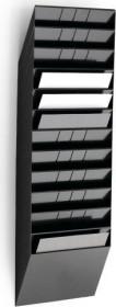 Durable Prospekthalter Flexiboxx 12, A4 Querformat, 12 Fächer, schwarz (1709781060)