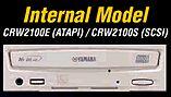 Yamaha CRW-2100S-VK, 16x/10x/40x, wewn./SCSI, retail