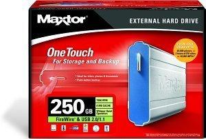 Maxtor OneTouch 250GB, USB 2.0/FireWire (A14A250)