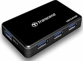 Transcend HUB3 USB-Hub, 4x USB-A 3.0, USB 3.0 Micro-B [Buchse] (TS-HUB3K)