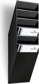 Durable Prospekthalter Flexiboxx 6, A4 Hochformat, 6 Fächer, schwarz (1709760060)