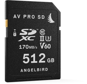Angelbird AV PRO SD V60 R170/W105 SDXC 512GB, UHS-II U3, Class 10 (AVP512SDV60)