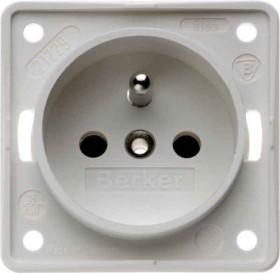 Berker Integro FLOW Steckdose Frankreich/Belgien, polarweiß matt (961952502)