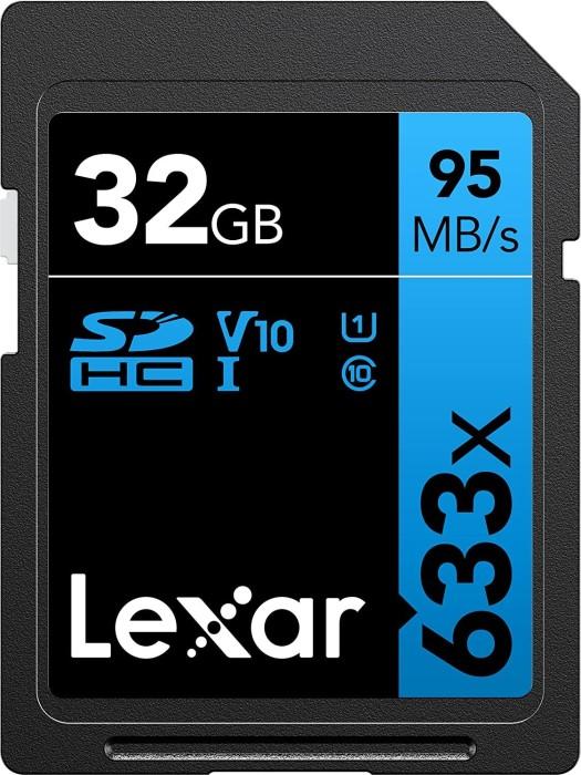 Lexar Professional 633x R95/W20 SDHC 32GB, UHS-I U1, Class 10 (LSD32GCB1EU633)