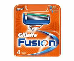 Gillette fusion replacement blades 4-pack