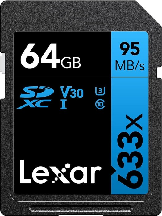 Lexar Professional 633x R95/W20 SDXC 64GB, UHS-I U1, Class 10 (LSD64GCB1EU633)