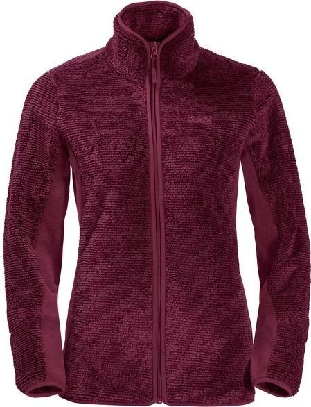 Jack Wolfskin Pine Leaf Jacket garnet red stripes (ladies) (1706751-7773)